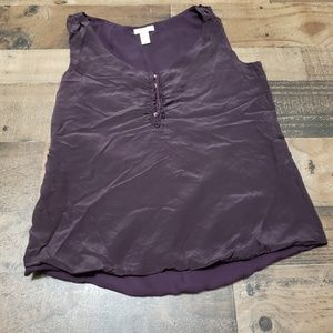 6 Purple Silk J Crew Tank Top